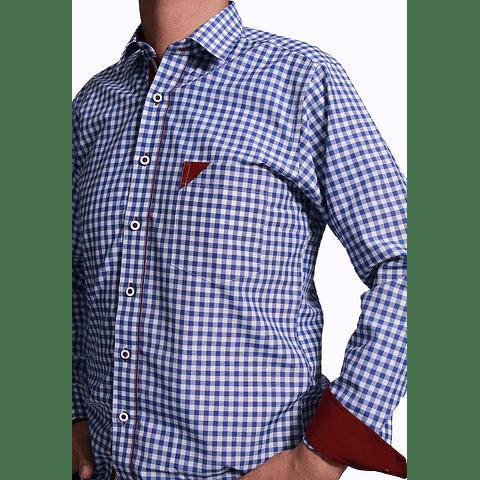 Camisa Dc5 Azul rey Vinotinto (316)