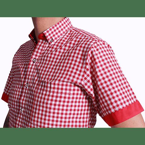 Camisa Dc5 Rojo Blanco (167)