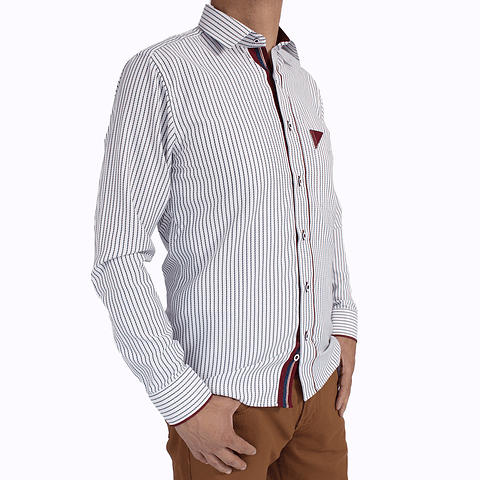 Camisa Dc5 Blanco Vinotinto (105)