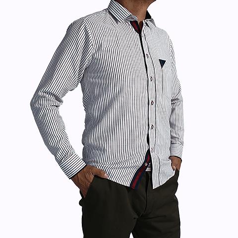 Camisa Dc5 Blanco Azul Osc (273)