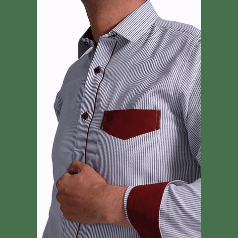 Camisa Dc5 Gris Vinotinto (170)