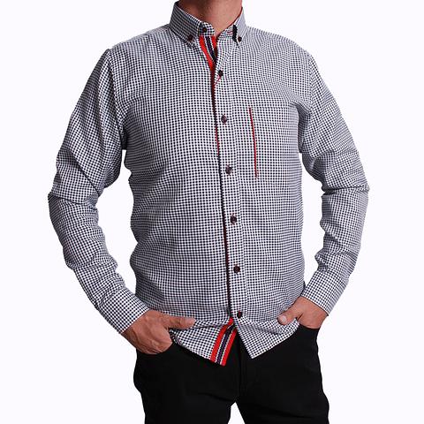 Camisa Dc5 Azul Osc Rojo (336)