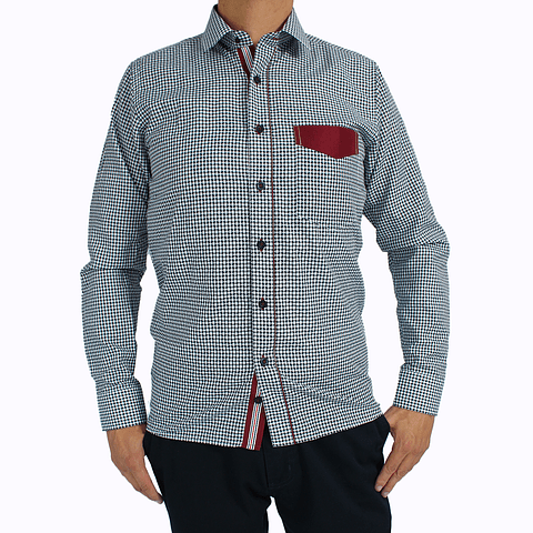 Camisa Dc5 Azul Vinotinto (306)