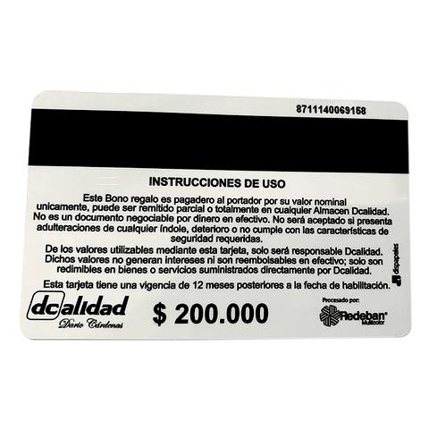Bono de regalo $200.000