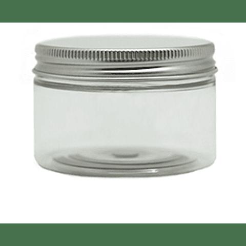 Pote crema transparente tapa aluminio 60, 100 y 250 grs
