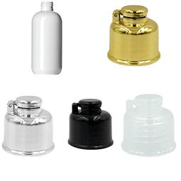 Barrilito blanco 250 ml tapa cantimplora dorada, plata, negra o transparente