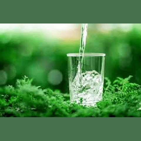 Agua pura 100% sin cloro ni sodio