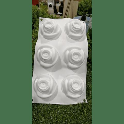 Molde flor grande 6 cavidades