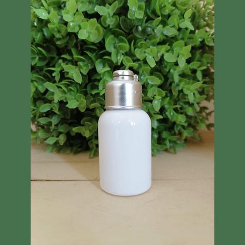 Envase 30-35 ml barrilito blanco tapa cantimplora plata