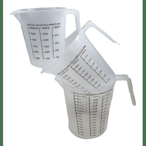Medidor plástico 600 y 1000 ml