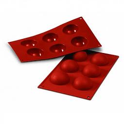 Molde 6 cavidades redondo