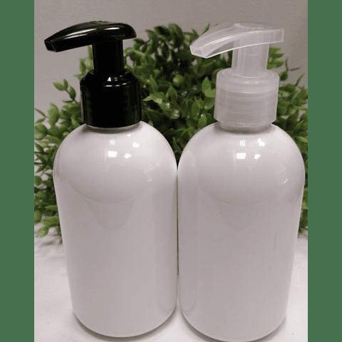 Barrilito blanco 250 ml tapa cantimplora y lotion