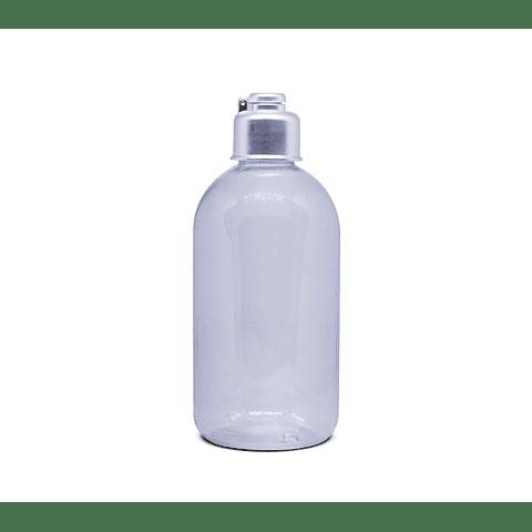 Barrilito transparente 250 ml tapa lotion, spray y cantimplora