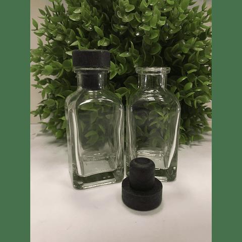 Botellita vidrio 50 ml con tapón