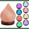 Lampara de sal himalaya ( con los colores de los chakras )