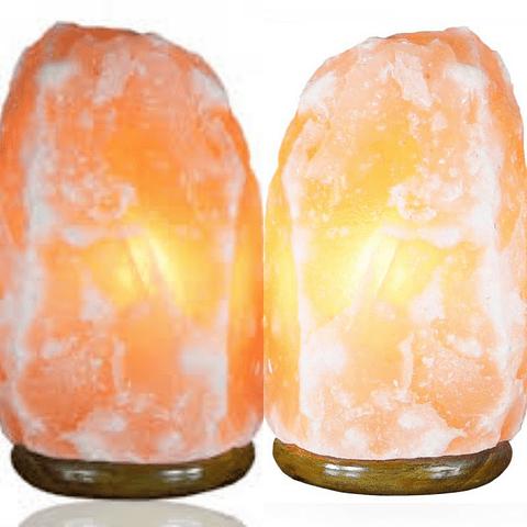 Lampara de sal himalaya con luz reguladora