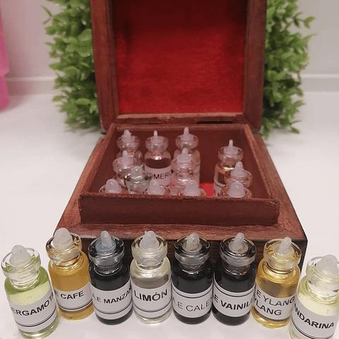 Cajitas de aceites esenciales
