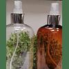 Envase barrilito 500 ml ámbar y transparente tapa spray gollete plata o dorado