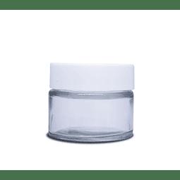 Frascos de vidrio 30 gr tapa blanca