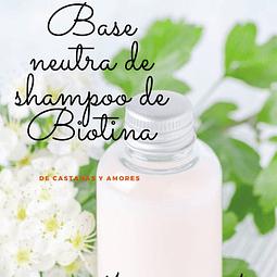 Base neutra de shampoo con Biotina