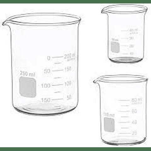 Vasos precipitados de 100, 250, 500 ml