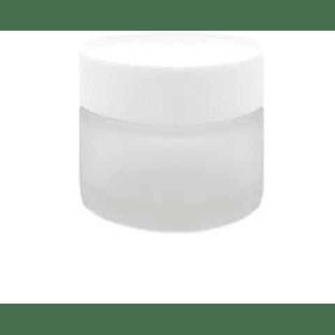 Envase vidrio 50 grs empavonado tapa blanca