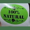 Etiqueta producto vegano y 100% natural