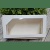 Cajita blanca con ventana de 4x14 cms unitaria o por mayor