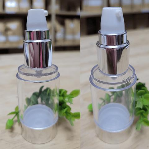 Envase airless 30 ml gollete plata