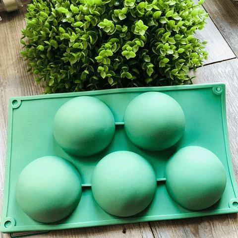 molde media esfera grande 5 cavidades