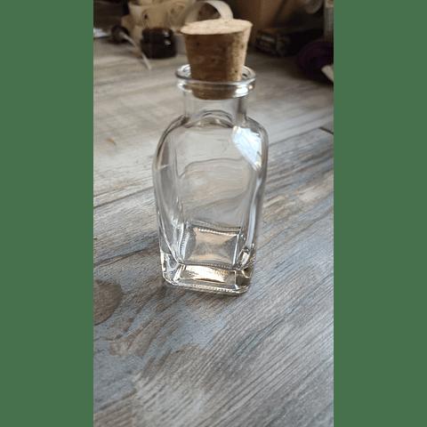 Botella de vidrio 50 ml con tapa corcho