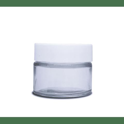 Frascos de vidrio 50 gr tapa blanca