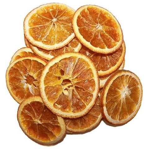 Naranjas secas en rodajas