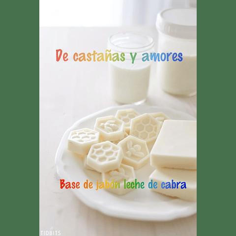 Base de jabón de leche de cabra