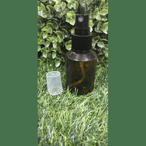 Envase vidrio grueso 30 ml spray negro
