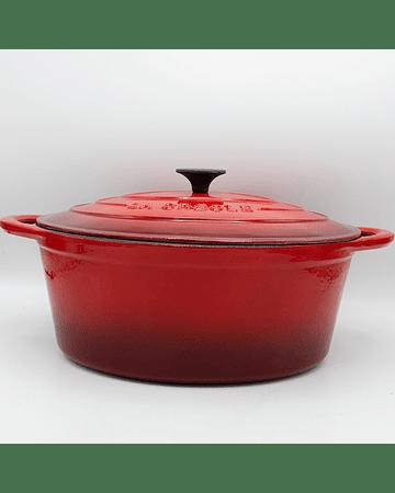 Cocotte ovalada 7 Lts roja