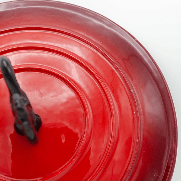 Casserole Poelon con tapa 3 Lts rojo Ausonia