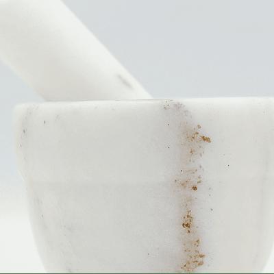 Mortero granito blanco