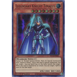 Legendary Knight Timaeus (Blue) - DLCS-EN001 - Ultra Rare 1st Edition