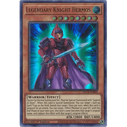 Legendary Knight Hermos (Blue) - DLCS-EN003 - Ultra Rare 1st Edition