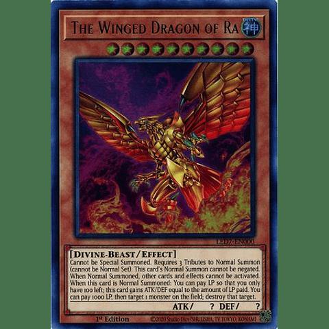 The Winged Dragon of Ra (alternate artwork) - LED7-EN000 - Ultra Rare 1st Edition