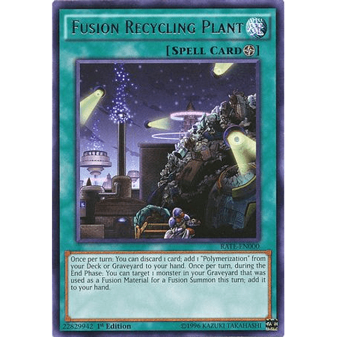 Fusion Recycling Plant -rate-en000- Rare 1st Edition