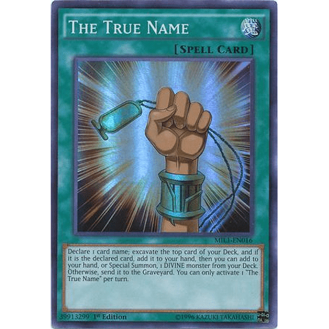 The True Name - MIL1-EN016 - Super Rare 1st Edition