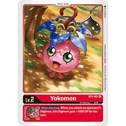 BT1-001 R Yokomon Digi-Egg