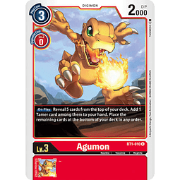 BT1-010 R Agumon Digimon