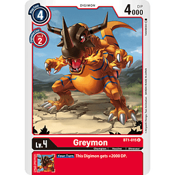 BT1-015 U Greymon Digimon