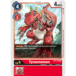 BT1-016 R Tyrannomon Digimon