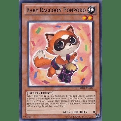 Baby Raccoon Ponpoko -shsp-en014- Common Unlimited