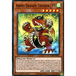 Armed Dragon Thunder LV5 - BLVO-EN003 - Super Rare 1st Edition