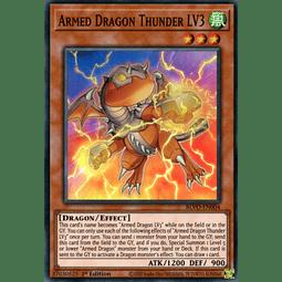 Armed Dragon Thunder LV3 - BLVO-EN004 - Super Rare 1st Edition